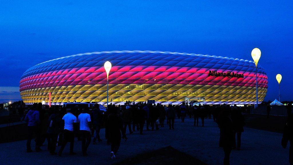 Альянц Арена - цвета Сборной Германии